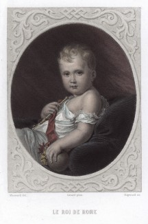 Детский портрет Наполеона II (Наполеон Франсуа Жозеф Шарль Бонапарт, король Римский, герцог Рейхштадтский (1811--1832 гг.))