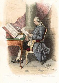 Анн Робер Жак Тюрго (1727-1781) - французский экономист и политический деятель. Лист из серии Le Plutarque francais..., Париж, 1844-47 гг.