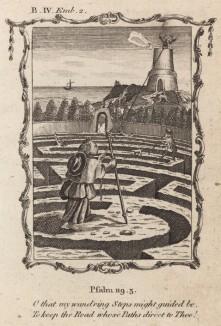 """Кто в моих блужданиях направляет мои следы? (из бестселлера XVII -- XVIII веков """"Символы божественные и моральные и загадки жизни человека"""" Фрэнсиса Кварльса (лондонское издание 1788 года))"""