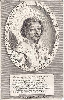 Потрет Генри Блаквода (1588--1634), профессора медицины Парижского университета, работы Клода Меллана.