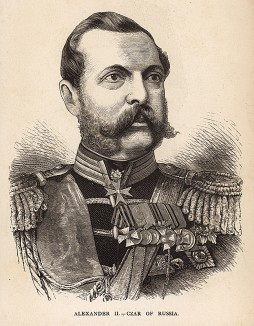 Русско-турецкая война 1877-78 гг. Русский царь Александр II. The war in the East. An illustrated history of the conflict between Russia and Turkey with a review of the Eastern question. Нью-Йорк, 1878