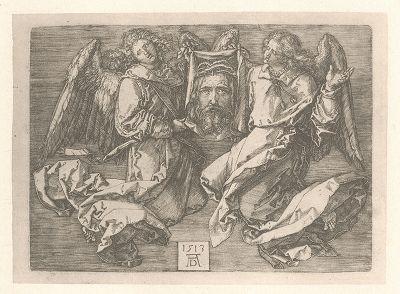 Плат Святой Вероники. Гравюра Альбрехта Дюрера, выполненная в 1513 году (Репринт 1928 года. Лейпциг)