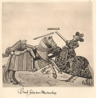Из Freydal. Des Kaisers Maximilian I. Turniere und Mummereien (Репринт 1882 года. Вена. Лист 6)