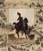 Конный артиллерист, а также миниатюры со сценами походной жизни французской конной артиллерии (из Esquisses historiques... de l'armée francaise генерала Амбера. Брюссель. 1841 год)