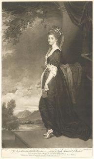 Леди Изабелла Гамильтон, графиня Гленкейн. Меццо-тинто Джеймса Уокера с оригинала Джорджа Ромни.