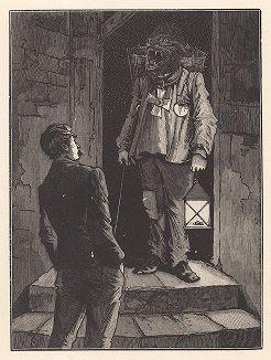 """Восьмой лист серии """"Бельфорский лев"""" Макса Эрнста, входящей в роман-коллаж """"Une Semaine de bonté"""" (Неделя доброты), 1934 год."""