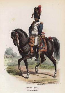 Гвардейский конный гренадер (из популярной работы Histoire de l'empereur Napoléon (фр.), изданной в Париже в 1840 году с иллюстрациями Ораса Верне и Ипполита Белланжа)