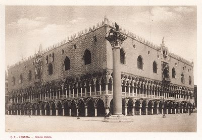 Дворец дожей в Венеции. Ricordo Di Venezia, 1913 год.