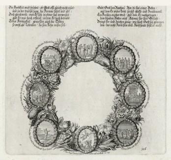 Пророчество Товия (из Biblisches Engel- und Kunstwerk -- шедевра германского барокко. Гравировал неподражаемый Иоганн Ульрих Краусс в Аугсбурге в 1700 году)