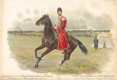Его императорское величество государь император Николай Александрович в форме собственного его императорского величества конвоя.