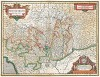 Карта герцогства Монтферра. Montisferrati Ducatus. Составил Хенрикус Хондиус. Амстердам, 1629