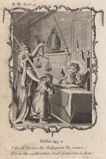 """О Господь! Пусть твой суд не будет суровым (из бестселлера XVII -- XVIII веков """"Символы божественные и моральные и загадки жизни человека"""" Фрэнсиса Кварльса (лондонское издание 1788 года))"""