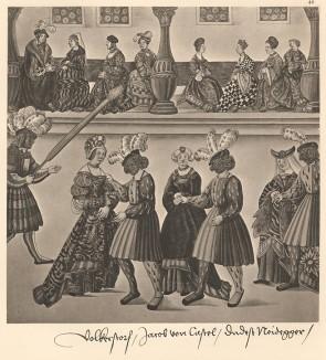 Из Freydal. Des Kaisers Maximilian I. Turniere und Mummereien (Репринт 1882 года. Вена. Лист 40)