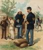 Американские обозники образца 1888 года (лист 44 одной из самых красивых серий хромолитографий конца XIX века, посвящённых военной форме. Издано в Нью-Йорке силами генерал-квартирмейстера армии США)
