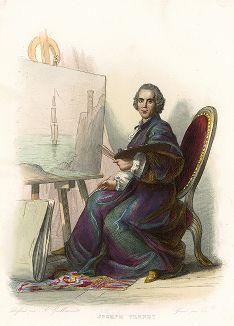 Клод Жозеф Верне (1714-1789) - французский живописец. Лист из серии Le Plutarque francais..., Париж, 1844-47 гг.