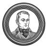 """Барон Клод-Франсуа де Меневаль (1778-1850) - личный секретарь императора Наполеона I в 1802-1813 годах. Илл. к пьесе С.Гитри """"Наполеон"""", Париж, 1955"""
