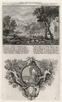 1. Лот видит уничтожение Содома 2. Сусанна и старцы (из Biblisches Engel- und Kunstwerk -- шедевра германского барокко. Гравировал неподражаемый Иоганн Ульрих Краусс в Аугсбурге в 1694 году)