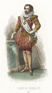 Мужская мода в эпожу Генриха IV. Дворянин в камзоле с гофрированным воротником и в ботфортах.