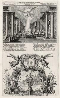 1. Товий у ложа умирающего отца 2. Ангел ведёт караван Товия (из Biblisches Engel- und Kunstwerk -- шедевра германского барокко. Гравировал неподражаемый Иоганн Ульрих Краусс в Аугсбурге в 1694 году)