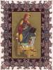 Радегунда -- четвёртая жена короля франков Хлотаря I. Сбежала от мужа, постриглась в монахини и основала в Пуатье девичий монастырь -- аббатство Сен-Круа (из Les arts somptuaires... Париж. 1858 год)