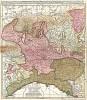 Карта северной Италии. Sedes belli in Italia, comprehendens ducatus Mediolanensem, Parmensem, ac Genuensem… Составил Петер Схенк. Амстердам, 1720