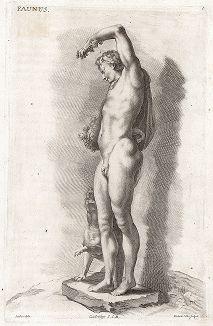 Фавн и пантера. Лист из Sculpturae veteris admiranda ... Иоахима фон Зандрарта, Нюрнберг, 1680 год.