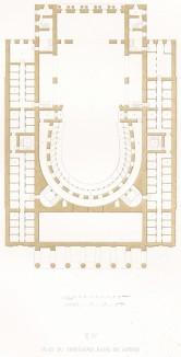 План IV. Ложи третьего этажа. Из редкого альбома литографий Reconstruction du Grand Théâtre de Moscou dit Petrovski, посвящённого открытию Большого театра после реконструкции 20 авг. 1856 г. и коронации императора Александра II. Париж, 1859