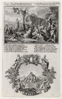 1. Сказание о медном змие 2. Валаам и Валак (из Biblisches Engel- und Kunstwerk -- шедевра германского барокко. Гравировал неподражаемый Иоганн Ульрих Краусс в Аугсбурге в 1700 году)