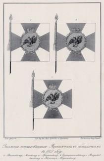 Историческое описание одежды и вооружения российских войск... А. В. Висковатова. Знамёна, пожалованные гарнизонным батальонам в 1805 году (лист 2410)