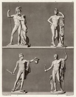 Статуи Антонио Кановы (из знаменитой работы Джулио Феррарио Il costume antico e moderno, o, storia... di tutti i popoli antichi e moderni, изданной в Милане в 1822 году (Европа. Том III))