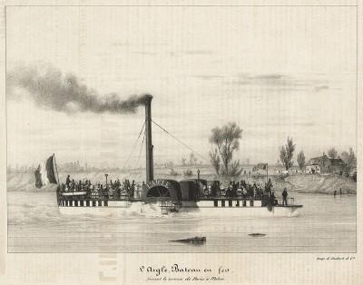 Прогулочный пароход L'Aigle, курсирующий между Парижем и Мелёном.