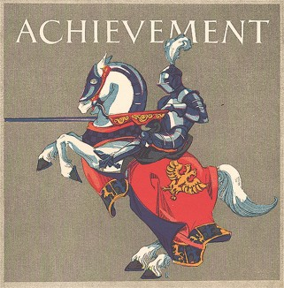 Успех. Рыцарь на белом скакуне.  Дизайнер Уолтер Розенталь.