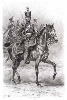 Униформа офицера французской службы тыла в 1825 году (из Types et uniformes. L'armée françáise par Éduard Detaille. Париж. 1889 год)