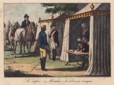 Фридрих II подписывает приказ о занятии Бреслау (эпизод Первой силезской войны)