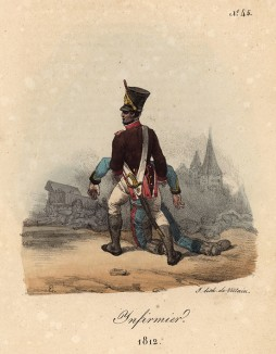 Спасение раненого в 1812 году (лист 45)
