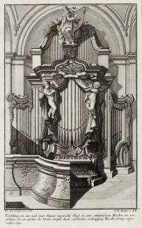 Церковный орган эпохи pококо. Johann Jacob Schueblers Beylag zur Ersten Ausgab seines vorhabenden Wercks. Нюрнберг, 1730