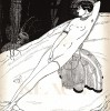 Реклама духов Antinea французского парфюмерного дома Rosine. Эскиз Марио Симона. Les feuillets d'art. Париж, 1920