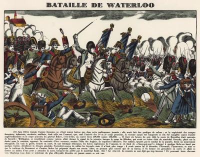 "Наполеон в битве при Ватерлоо 18 июня 1815 года. Илл. к пьесе С.Гитри ""Наполеон"". Репринт ксилографии Франсуа Жоржена. Париж, 1955"