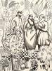 Реклама неизвестного парижского магазина цветов. Les feuillets d'art. Париж, 1920