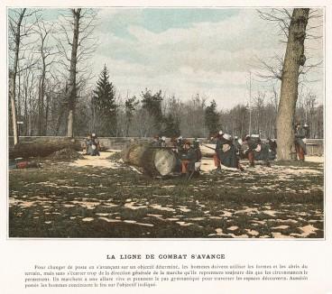 Ведение огня из укрытия. L'Album militaire. Livraison №2. Infanterie. Serviсe en campagne. Париж, 1890