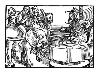 Пир султана. Иллюстрация Йорга Бреу Старшего к описанию путешествия на восток Лодовико ди Вартема: Ludovico Vartoman / Die Ritterliche Reise. Издал Johann Miller, Аугсбург, 1515