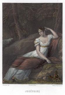 Жозефина Богарне, урожд. Мари Роз Жозефа Таше де ла Пажери (1763—1814), — императрица Франции в 1804-1809 годах и первая жена императора Наполеона I (с картины Пьер-Поля Прюдона)