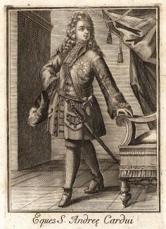 Рыцарь ордена Чертополоха (Шотландия). Покровитель - апостол Андрей Первозванный. Король Шотландии Яков VII, он же король Англии Яков II, учредил современный орден в 1687 г. Члены ордена - суверен и шестнадцать рыцарей и леди