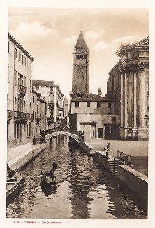 Канал Сан-Барнаба в Венеции. Ricordo Di Venezia, 1913 год.
