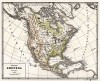 Физическая карта Северной Америки. Новый учебный географический атлас для полного гимназического курса, состоящий из 38 карт. Санкт-Петербург, 1907