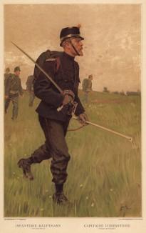 Капитан швейцарской пехоты в полевой форме (из альбома хромолитографий L' Armée Suisse... Цюрих. 1894 год)