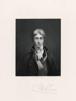 """Автопортрет Джозефа Уильяма Тёрнера (лист из альбома """"Галерея Тёрнера"""", изданного в Нью-Йорке в 1875 году)"""