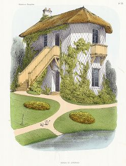 Домик садовника. Habitations Champêtres..., Париж, 1855 год