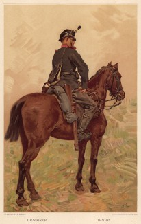 Швейцарский драгун (из альбома хромолитографий L' Armée Suisse... Цюрих. 1894 год)