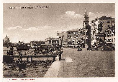 Рива дельи Скьявони в Венеции. Ricordo Di Venezia, 1913 год.